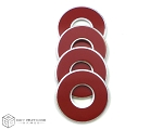 Red-Crimson VVashers™ - Set of 4